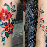 Cores, degradês, flores, desenhos delicados e sem contorno. Conheça o fantástico trabalho da Sul-Coreana Zihee Tattoo!