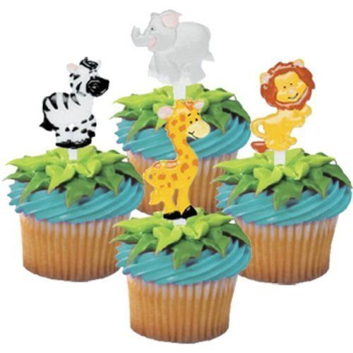 Zoo Animal Cupcake Picks - 24 ct by Bakery Supplies Birthday Jungle Wi – Alice's Supplies