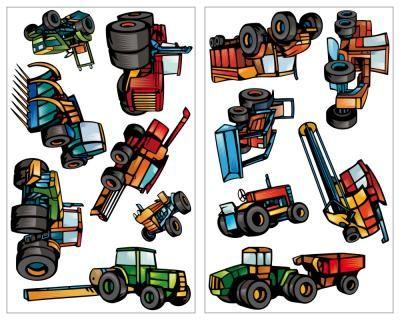 Luxury  teiliges Traktor und M hdrescher Set Wandtattoo teiliges Traktor und M hdrescher Wandtattoo