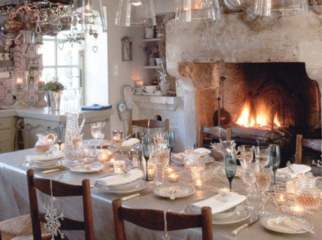 Décorations tables de Noël ambiance campagne 1