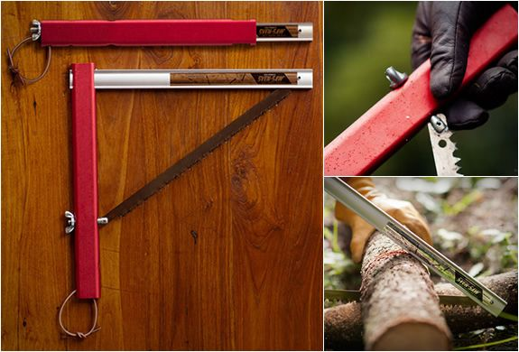 When you're backpacking sometimes a pocket knife just won't cut it. Literally. Enter the folding saw by Sven-Saw.