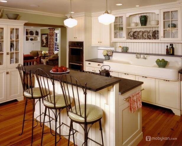 صور مطابخ حديثه و اشكال مطابخ مودرن و مميزه من موبيكان Farm Style Kitchen Sinks Kitchen Island With Bench Seating Kitchen Design