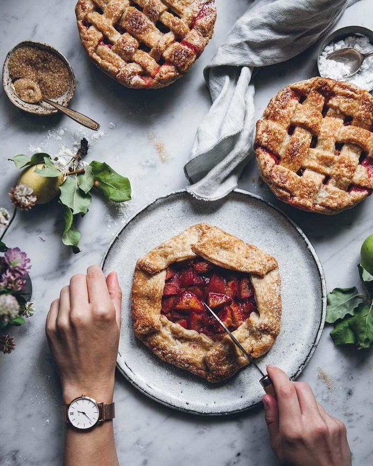 Galette - putting some plums and pears inside a sweet, flaky pie crust