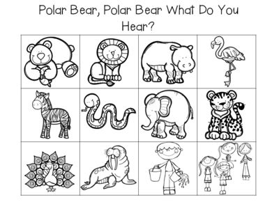Polar Bear, Polar Bear What Do You Hear? Activities from Fun in ECSE on TeachersNotebook.com (55 pages)