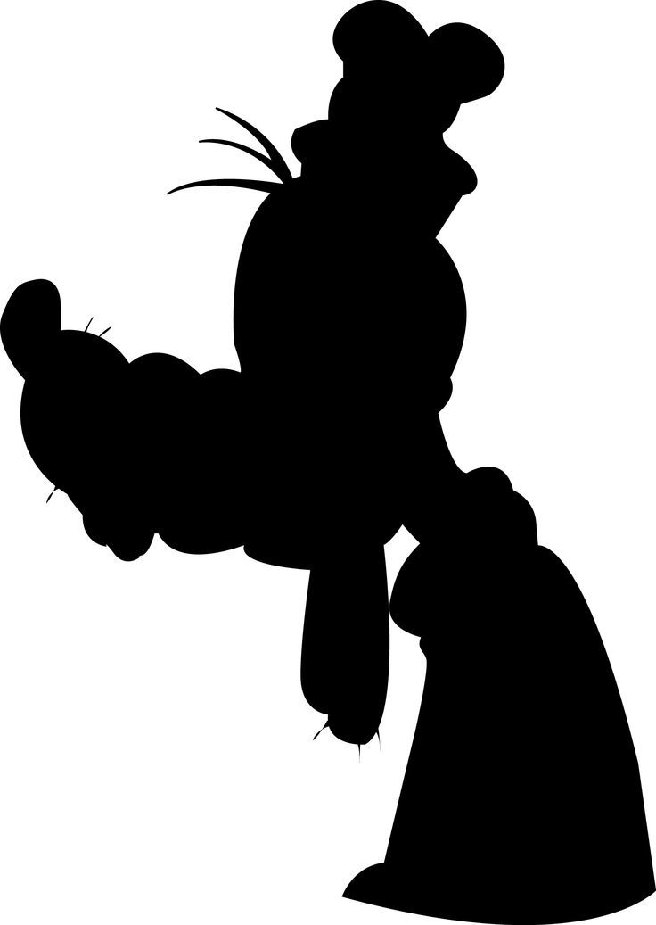 free download disney goofy silhouette clipart for your creation