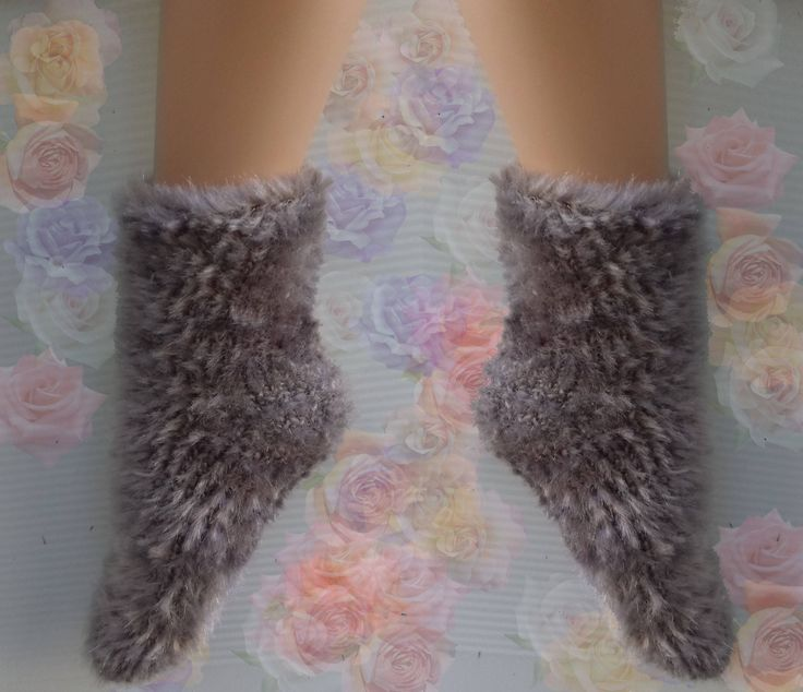 Hand Knitted Socks For Sale Mens Womens Warm Slipper Cozy Home Comfort by Czechhandmade on Etsy