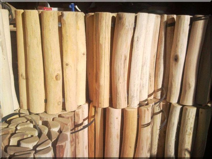 Félhasábos akác fa ágyásszegély, 40 cm - Kerti szegély