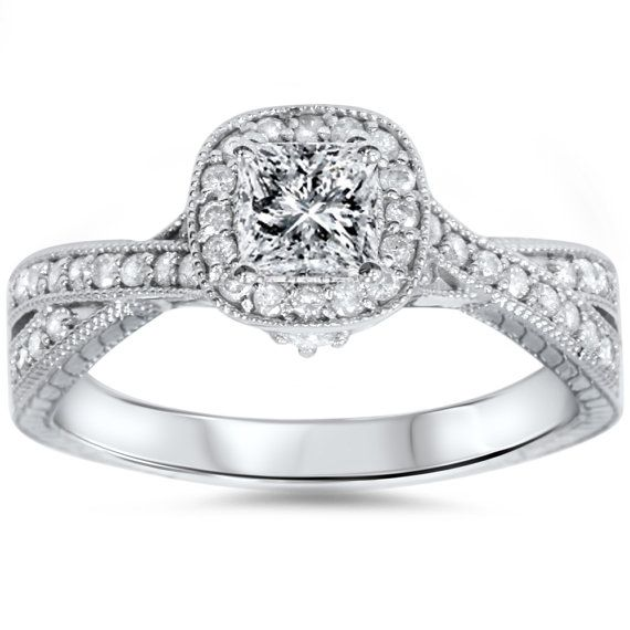Product Details  Item #  ENG0348.4.5  Width:  4 mm  Metal:  14k White Gold  Diamond Cut:  Square, Princess  Diamond Color:  H/I  Diamond Clarity:  I2