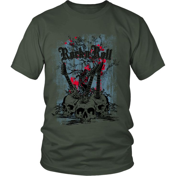 Rock & Roll - T-Shirt Available in two styles, designed and printed in the…