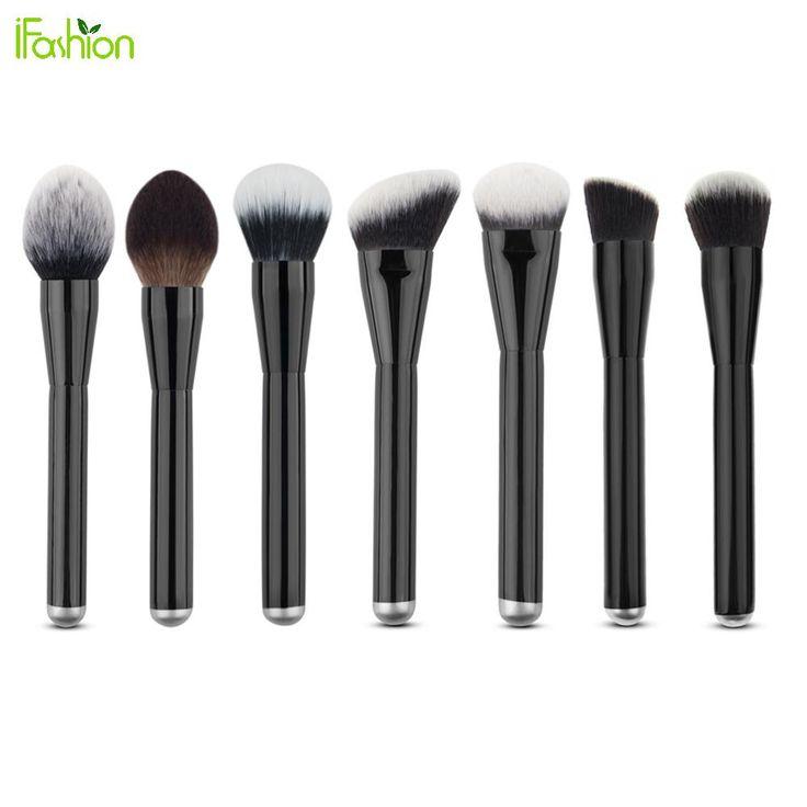 7pcs Big Makeup Brushes Set Goat Hair Pinceis Naked Face Contour Powder Foundation Brush Cosemtic Tool Makeup Brushes Easy Use