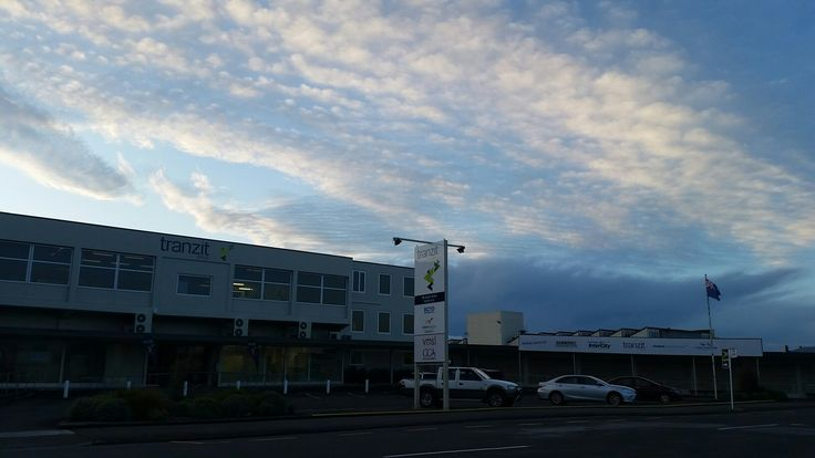 Tranzit Masterton Main Bus Station Featuring the stunning  clouds above #TranzitNZ #Masterton #busstation #clouds #afternoon #clouds #blue #white #bus #station #photography