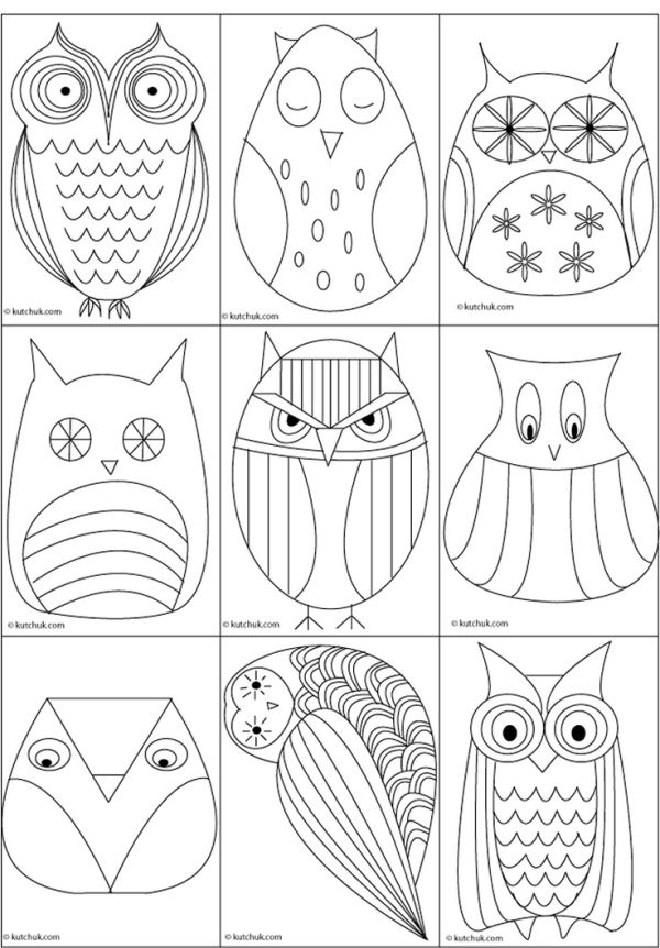 Great owl templates by Maria Karla Paulo