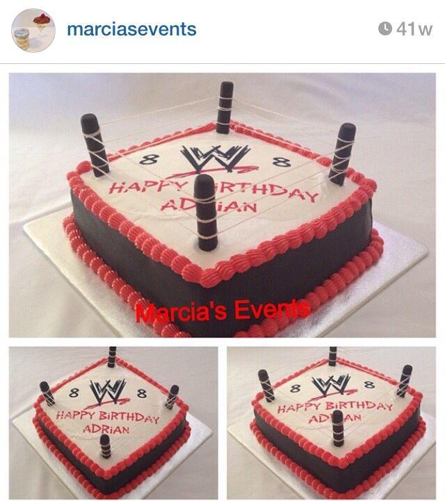 WWF wrestling birthday cake