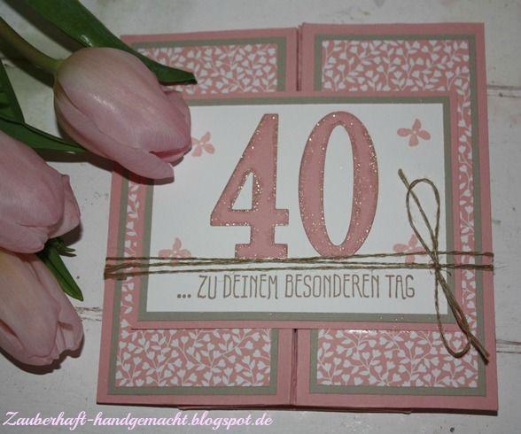 Schachtelkarte zum 40. Geburtstag, Frühjahr/Sommerkatalog 2016, SAB 2016, SU