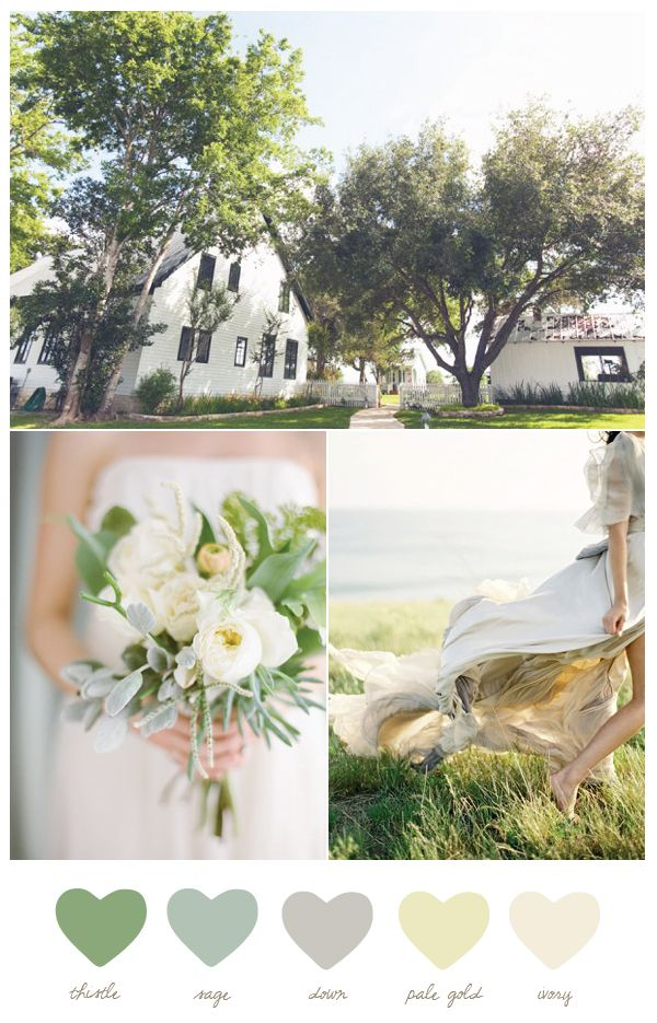 Green and ivory color palette   The Sweetest Occasion