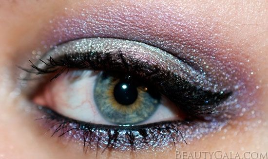 Urban Decay Vice 2 Palette Makeup Look: Silver & Violet