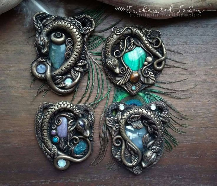 New Enchanted Dragon Pendants by EnchantedTokenArt.deviantart.com on @DeviantArt