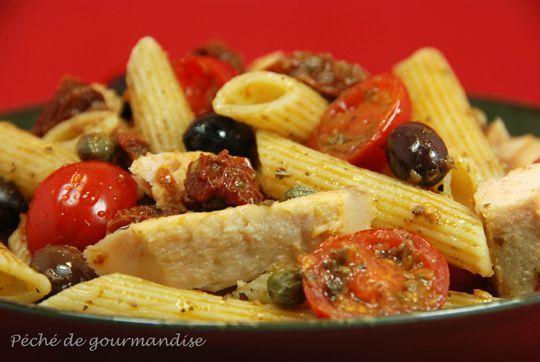 salade de p tes au thon la sicilienne salades de p tes pinterest sicilian pasta and. Black Bedroom Furniture Sets. Home Design Ideas