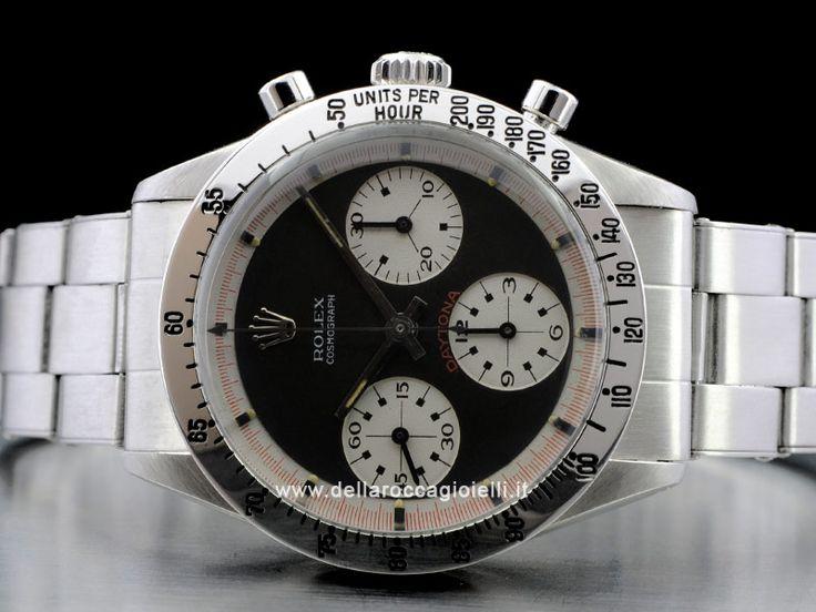 """Rolex Cosmograph Daytona Paul Newman - Ref. 6239 Cassa in acciaio 37mm Vetro plexiglass-tropic (vetro plastica) 25-21 Cassa a vite in tre corpi Quadrante """"Paul Newman"""" Bracciale Oyster in acciaio con maglie rivettate Movimento carica manuale, Calibro 722"""