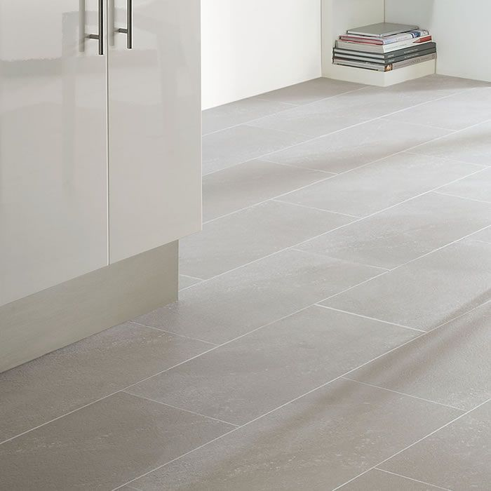 Cool grey tones within interior decoration are becoming increasingly popular as they can often encourage a more contemporary and fresher feel. The clarity in sophistication is clear to see with Polyflor Colonia Balmoral Grey Slate 4534 Vinyl Flooring. The almost iced quartz-like secondary colour elevates the appearance to present a superior granite design. The strip displayed between tiles is Ice Grouting Strip.