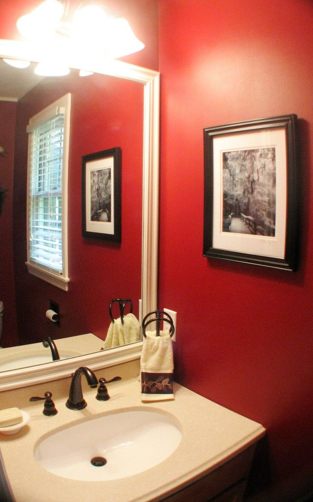 Red Delicious Bathroom - this is a really neat website for colors for rooms with the paint color names!