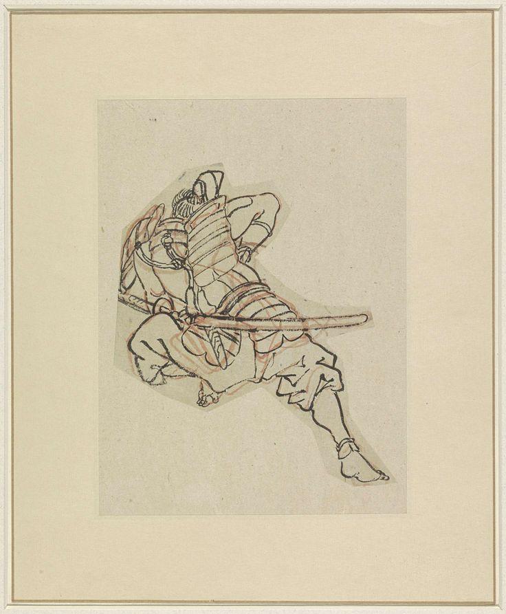 Samoerai in harnas, Utagawa Kuniyoshi, 1808 - 1861