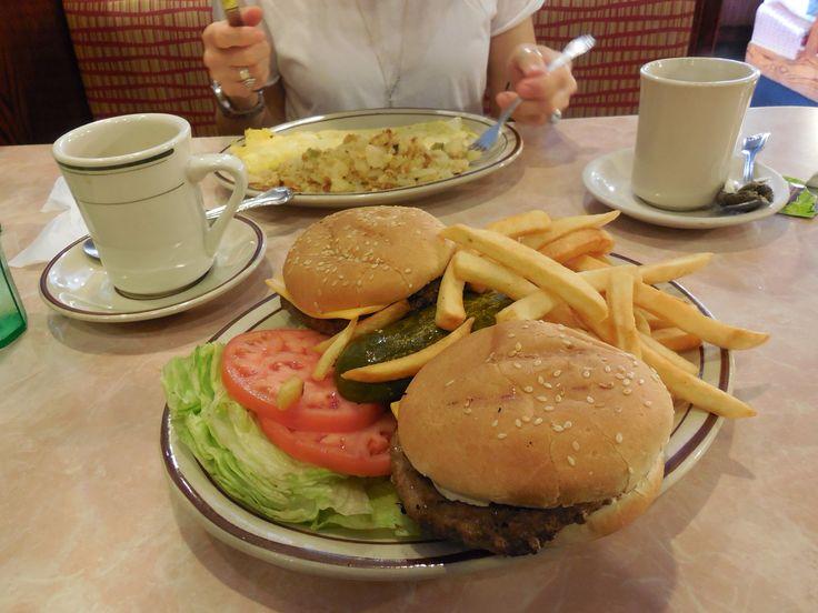Double Cheeseburger Delux - Tom's Restaurant - Upper West Side, Manhattan, NY