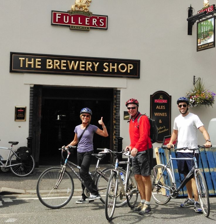 We enjoy visiting Fullers Brewery Shop so guests can buy souvenirs or their favourite beer after a tasting