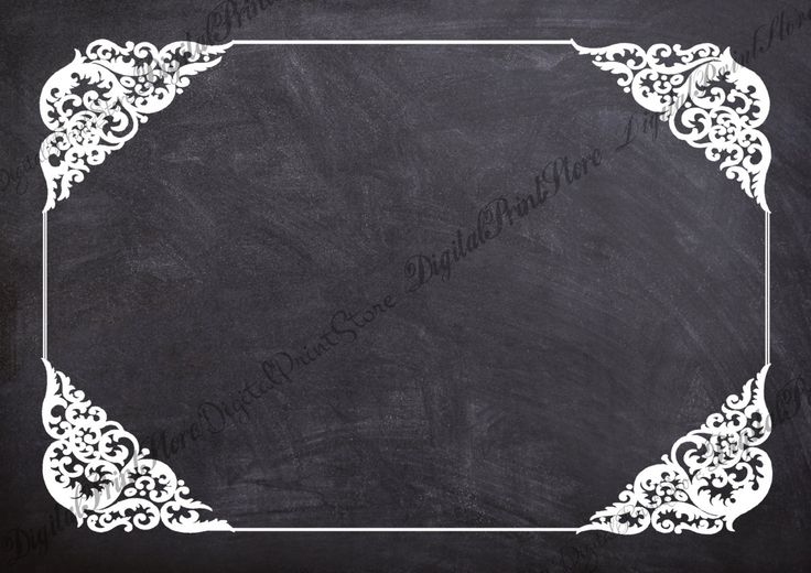 Victorian Chalkboard Frame Border 004, Embellishment, Commercial Use by DigitalPrintStore on Etsy