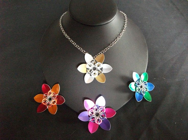 Scale Flower Necklace (2 colors) Available on TRADE through Trad. Commerce Exchange! http://tandcglobal.com