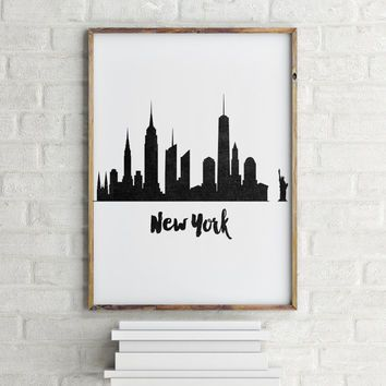 NEW YORK CITY, Inspirational Art,New York Printable Art,New York Black And White,State,Home Decor,Wall Decor,Digital Art,New York Poster