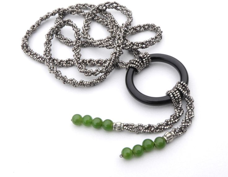 Cut+Steel+&+Jade+Necklace, £300.00