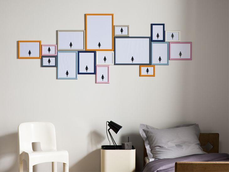 Les 25 meilleures id es de la cat gorie cadres m talliques for Accrochage tableaux au mur