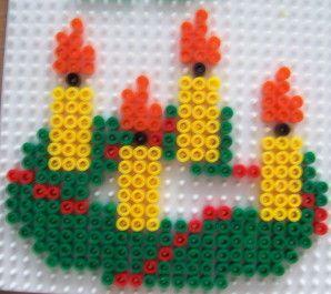 Christmas hama perler beads by Les loisirs de Pat