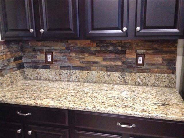 Ceramictec   Tampa Florida Tile Contractor Blog: Brandon, Florida Stacked Slate  Kitchen Backsplash Installation