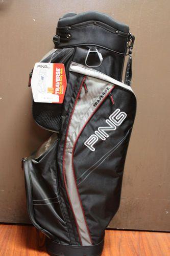 Ping Golf 2013 Traverse Cart Golf Bag Black Charcoal Inferno Red   eBay