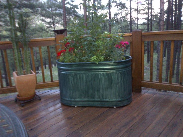 Painted Raised Garden Beds