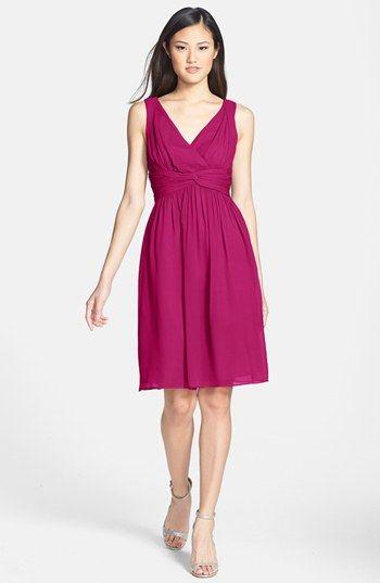 Donna Morgan 'Jessie' Twist Silk Chiffon Dress (Regular & Plus) available at #Nordstrom ---Rach