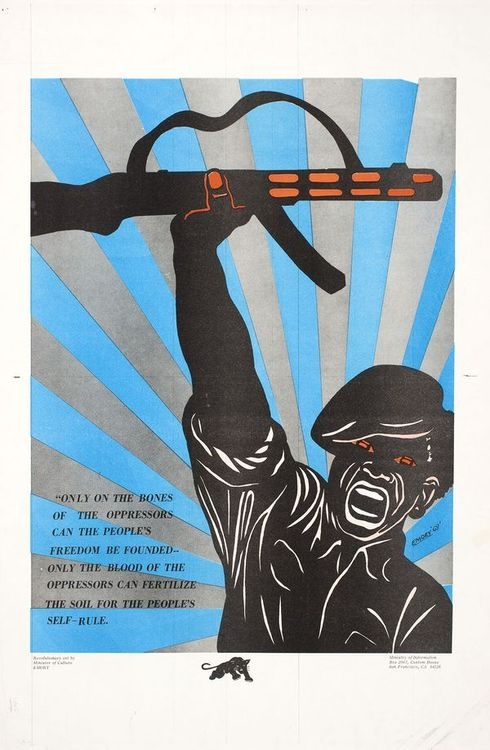 Black Panther Party poster, 1969  Illustration and design: Emory Douglas