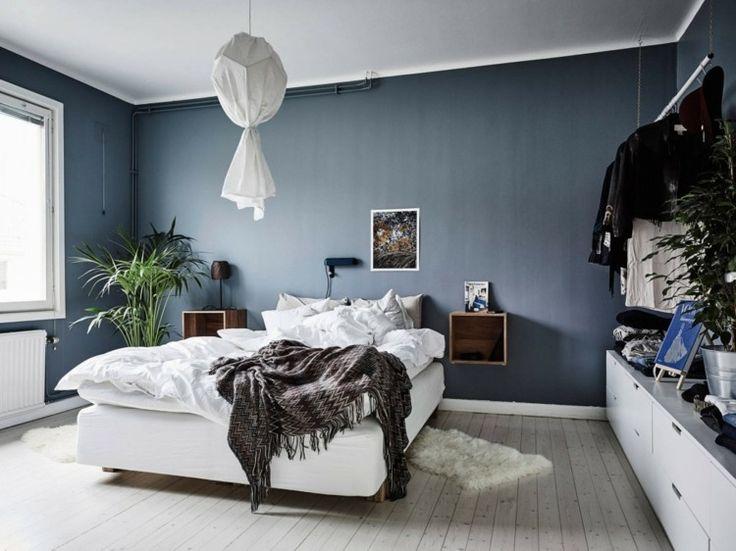 peinture bleu gris lintrieur le bleu pigeon et le bleu ardoise adapts tout espace peinture bleu plantes vertes et dans la chambre - Peinture Gris Bleu Pour Chambre