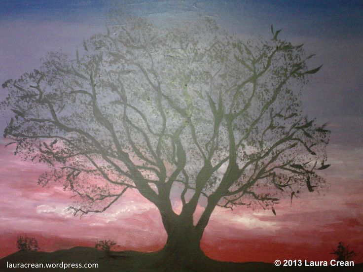 Sunset Tree http://lauracrean.wordpress.com/