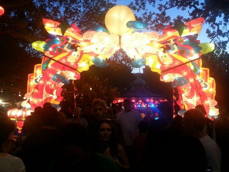 Lanterns archway at lantern festival 2014