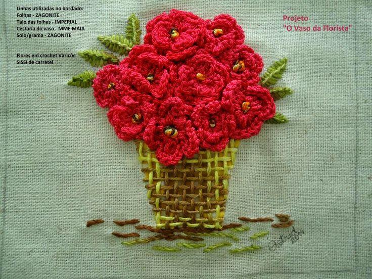 Artes da Silvana: bordado brasileiro