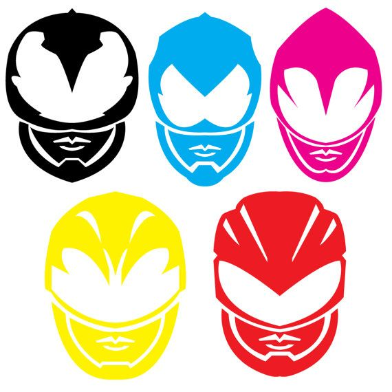 Custom power rangers helmet decal