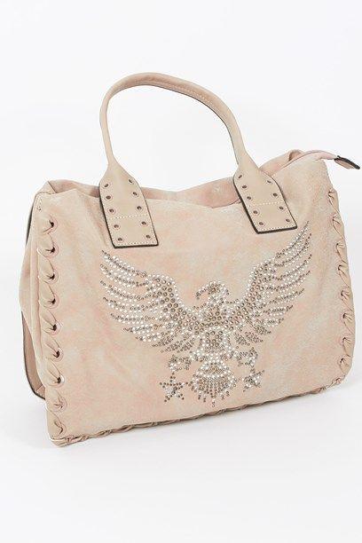 SUSANNAH TASKE- Handbag with decoration of an eagle.