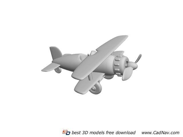 Plastic Toy Plane 3d model