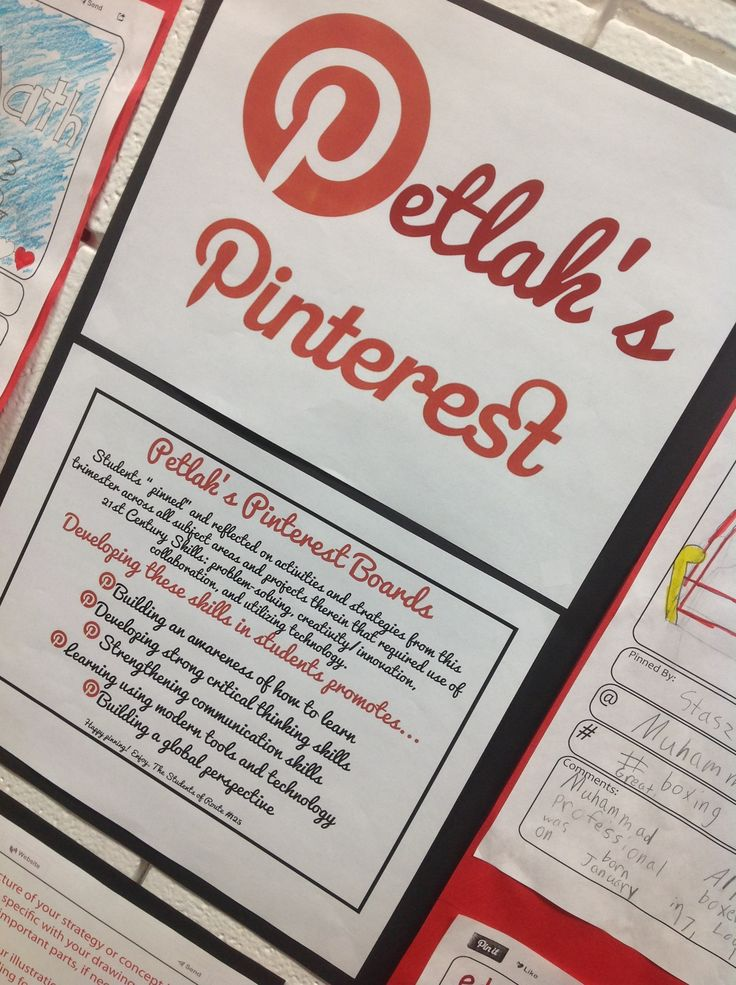 Pinterest-Inspired Project and Hallway Display | Lindsey Petlak on Scholastic.com  - She uses QR codes to link paper pinterest pages to digital products