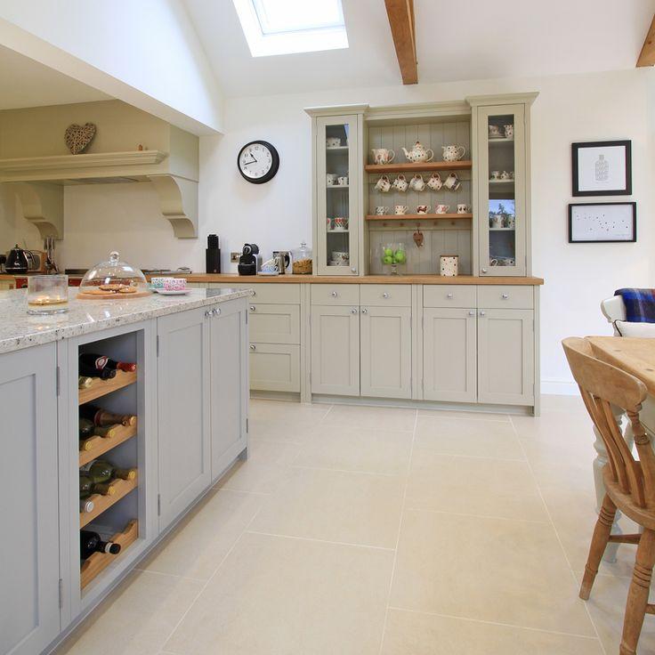 Half In-Frame Shaker Kitchen in Pavillion Grey & Old White.