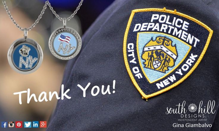 NYPD Custom Locket. Thank you officers