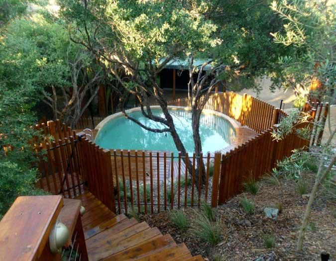 landscape designed and constructed by abben art garden design, decking and fence by outdoor woodworks, pool constructed by aloha pools